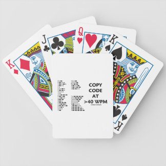 Copy Code At >40 WPM (International Morse Code) Bicycle Playing Cards