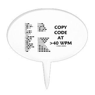 Copy Code At >40 WPM (International Morse Code) Cake Pick