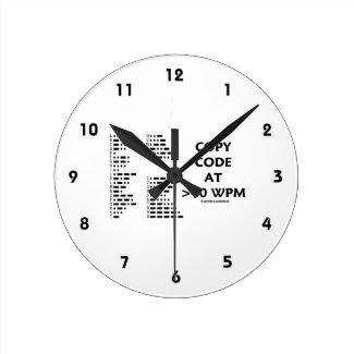 Copy Code At >40 WPM (International Morse Code) Wallclocks