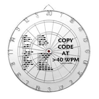 Copy Code At >40 WPM (International Morse Code) Dart Boards