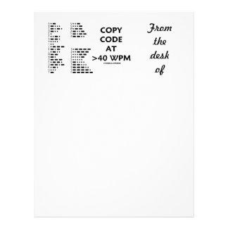 Copy Code At >40 WPM (International Morse Code) Letterhead