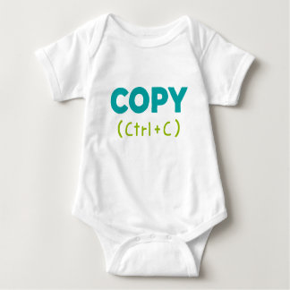 COPY (Ctrl C) Copy & Paste Baby Bodysuit