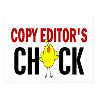 Copy Editor's  Chick Postcard