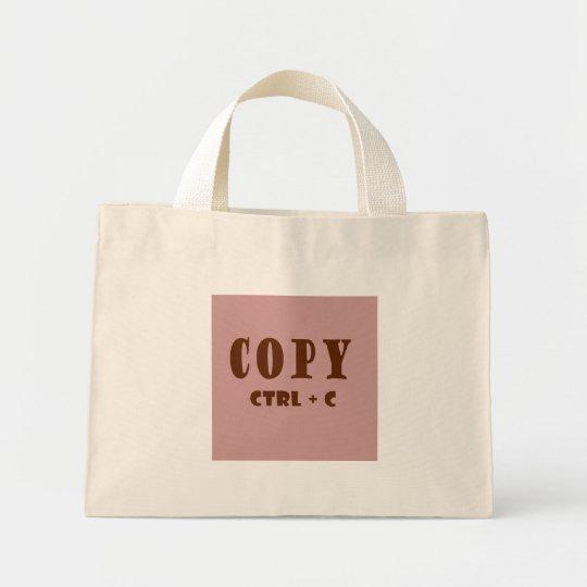 Copy Keystroke Mini Tote Bag