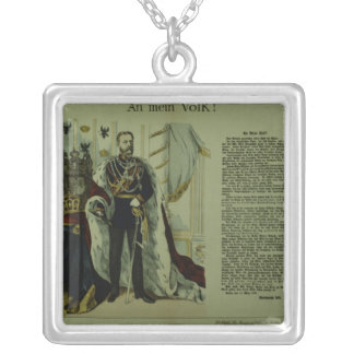 Copy of a declaration from Frederick III Square Pendant Necklace