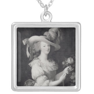 Copy of a Portrait of Marie-Antoinette Silver Plated Necklace