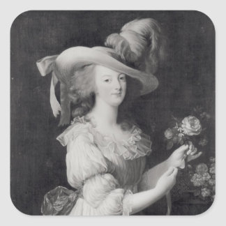Copy of a Portrait of Marie-Antoinette Square Sticker