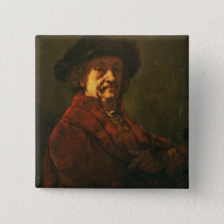 Copy of a Rembrandt Self Portrait, 1869 Pinback Button