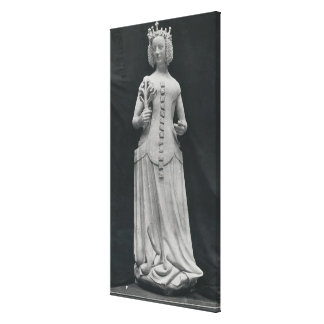 Copy of a statue of Isabella of Bavaria Canvas Print