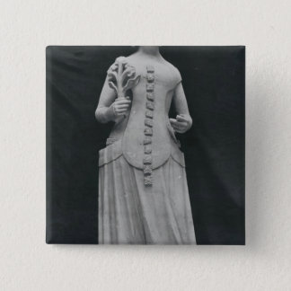 Copy of a statue of Isabella of Bavaria Pinback Button