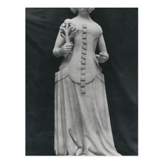 Copy of a statue of Isabella of Bavaria Postcard