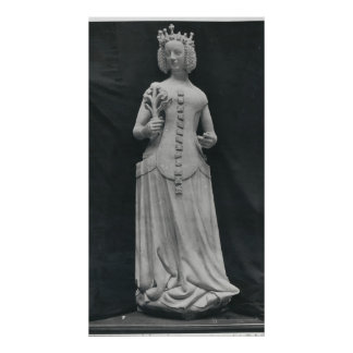 Copy of a statue of Isabella of Bavaria Poster