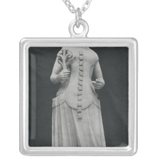 Copy of a statue of Isabella of Bavaria Silver Plated Necklace