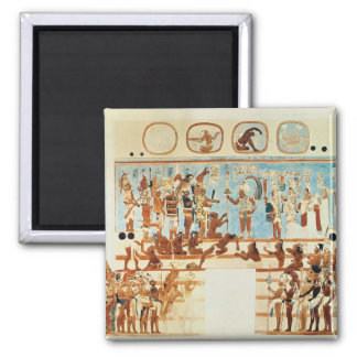 Copy of a wall painting from Bonampak 2 Inch Square Magnet