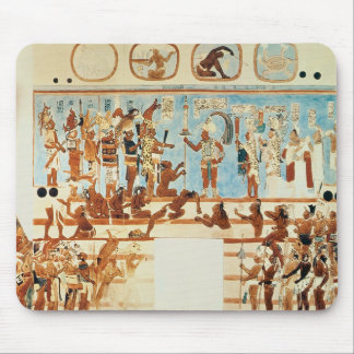 Copy of a wall painting from Bonampak Mouse Pad
