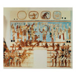Copy of a wall painting from Bonampak Poster