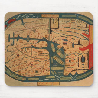 Copy of an 8th century Beatus mappamundi Mouse Pad