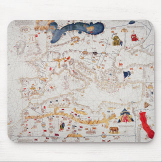 Copy of Catalan Map of Europe, North Africa Mouse Pad