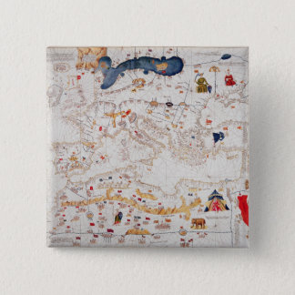 Copy of Catalan Map of Europe, North Africa Pinback Button