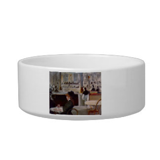 Copy of In Cafe by Edouard Manet Cat Water Bowls