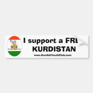 Copy of kycflagg, I support a free Kurdistan, w... Bumper Sticker