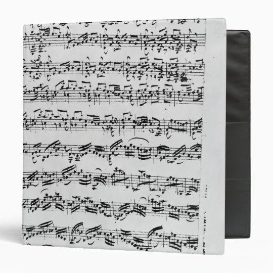Copy of 'Partita in D Minor for Violin' Binder