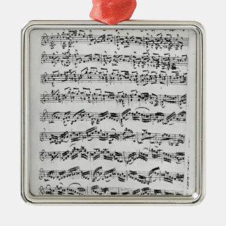 Copy of 'Partita in D Minor for Violin' Metal Ornament