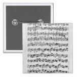 Copy of 'Partita in D Minor for Violin' Pinback Button
