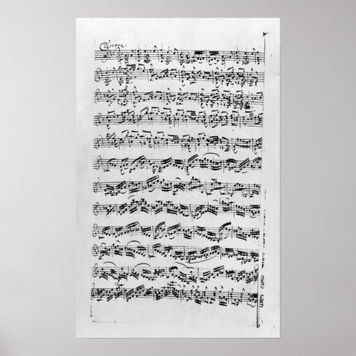 Copy of 'Partita in D Minor for Violin' Poster