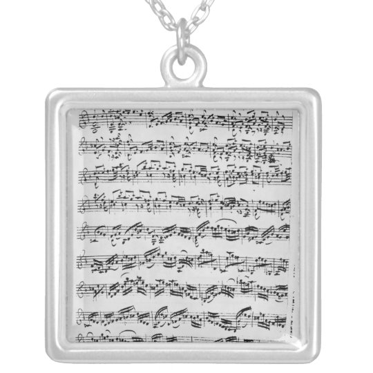 Copy of 'Partita in D Minor for Violin' Silver Plated Necklace