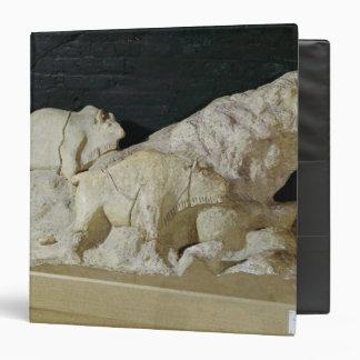 Copy of sculpture of bisons, Le 3 Ring Binder