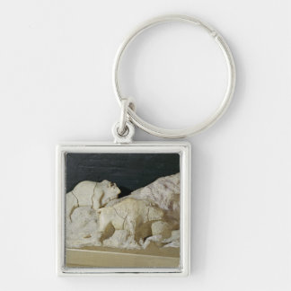 Copy of sculpture of bisons, Le Keychain