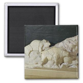 Copy of sculpture of bisons, Le Magnet