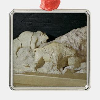 Copy of sculpture of bisons, Le Metal Ornament