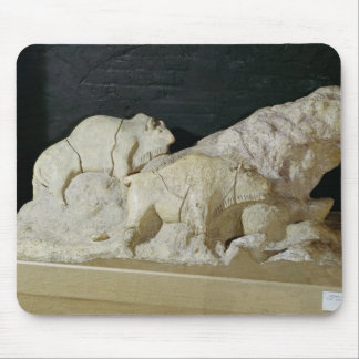 Copy of sculpture of bisons, Le Mouse Pad
