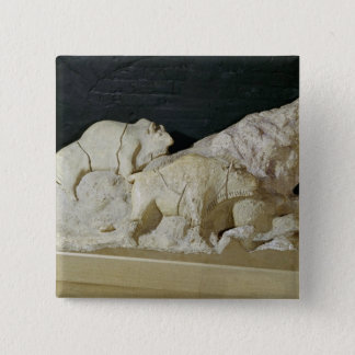 Copy of sculpture of bisons, Le Pinback Button