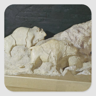 Copy of sculpture of bisons, Le Square Sticker