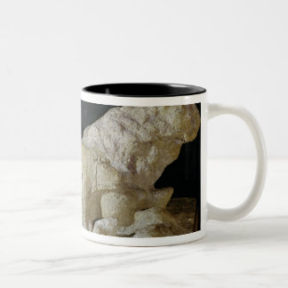 Copy of sculpture of bisons, Le Two-Tone Coffee Mug