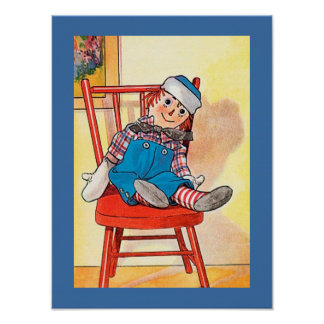 Copy of Sweet Vintage Image RAGGEDY ANDY Poster