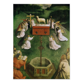 Copy of The Adoration of the Mystic Lamb Print