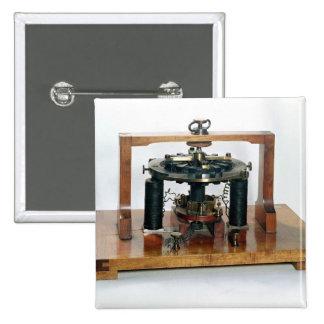 Copy of the electro-magnetic 'macchinetta' 2 inch square button