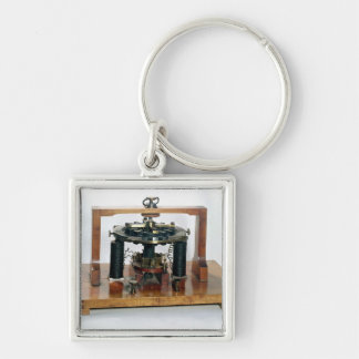 Copy of the electro-magnetic 'macchinetta' Silver-Colored square keychain