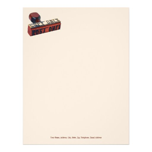 Copy Only Stamp. Letterhead
