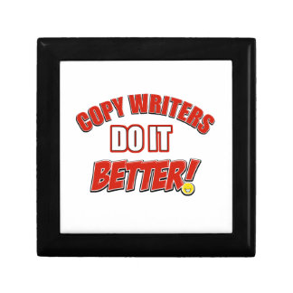 Copy writers designs gift boxes