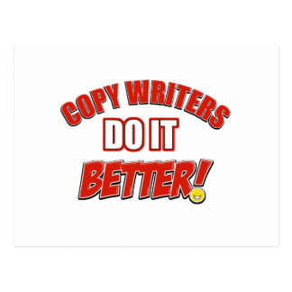 Copy writers designs postcard