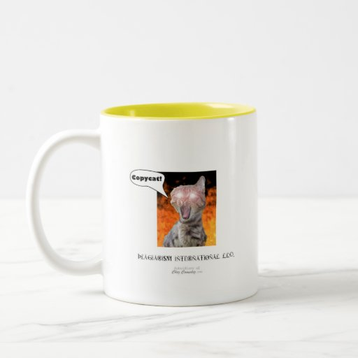 copycat logo Two-Tone coffee mug