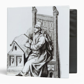 Copyist Writing upon a Sheet of Vellum 3 Ring Binder