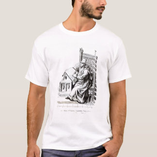 Copyist Writing upon a Sheet of Vellum T-Shirt