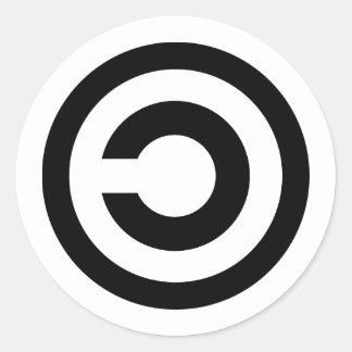 Copyleft Classic Round Sticker