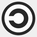 copyleft etiqueta redonda